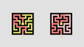 Maze-04 Examples of perfect maze (left) and braid maze.PNG