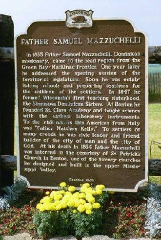 Samuel Mazzuchelli - Fr. Mazzuchelli historical marker
