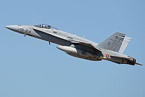 Zaragoza Air Base - A Spanish Air Force EF-18A Hornet at Zaragoza AB