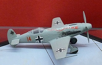 Messerschmitt Me 209 - Display model of the aircraft showing its World War II configuration