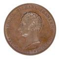 Medalj med bild av Frans Michael Franzén i profil - Skoklosters slott - 99293.tif