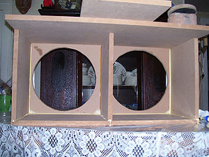 Loudspeaker enclosure - Medium density fiberboard is a common material out of which loudspeaker enclosures are built.