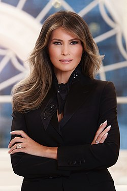 Official portrai of Melania Trump, 2017. Image: Regine Mahaux.