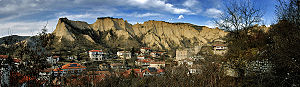 100 Tourist Sites of Bulgaria - 4. A view of Melnik and its sand pyramids