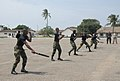 Members of the Ghana Army 2nd Engineer Battalion practice baton techniques during a nonlethal training demonstration June 26, 2013, in Accra, Ghana, as part of exercise Western Accord 2013 130626-A-ZZ999-012.jpg
