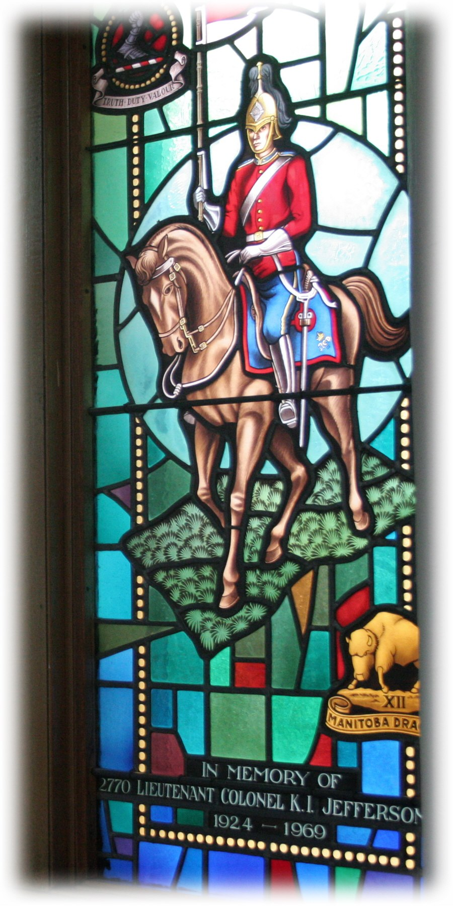 Memorial Stained Glass window, 2770 LCol KL Jefferson, Royal Military College of Canada