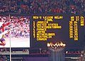 Men's 4 x 100m Relay Scoreboard (8457657559).jpg