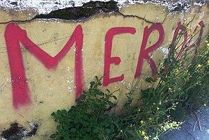 Italian profanity - Merda, the Italian term for shit