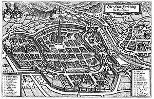 History of Freiburg - Freiburg im Breisgau 1644, engraving by Matthäus Merian