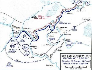 14th Indian Division - Map showing the 14th Division movements
