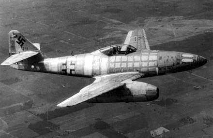 This airframe, Wrknr. 111711, was the first Me 262 to come into Allied hands when its German test pilot defected on March 31, 1945. The aircraft was then shipped to the United States for testing. Messerschmitt Me 262 Schwable.jpg