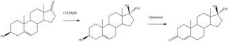 Methyltestosterone - Image: Methyltestosterone synthesis