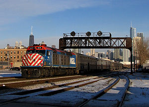 Metra - Metra 614 in Chicago.
