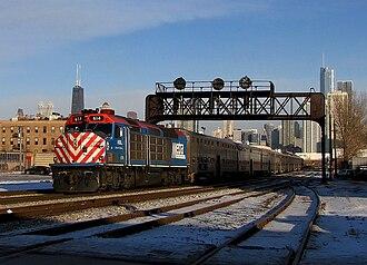 Metra - Metra 614 in Chicago.