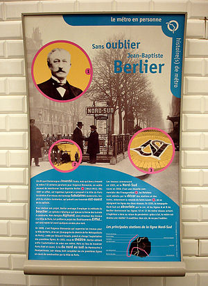 Paris Métro Line 12 - Tribute to Jean-Baptiste Berlier in the Saint-Lazare station