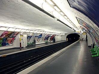 Philippe Auguste (Paris Métro) - Image: Metro de Paris Ligne 2 Philippe Auguste 03