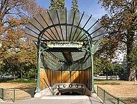 Metro station entrance (édicule Guimard) Porte Dauphine Paris 16e 002.jpg