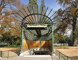 Hector Guimard - Entrance to the Porte Dauphine Métro station, Paris