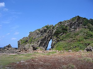 Gushikawa Castle (Kume) - Miifugaa rock formation near Gushikawa Castle