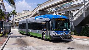 Metrobus (Miami-Dade County) - Image: Miami Dade Transit route S (119) bus at Adrienne Arsht Center Bus Terminal