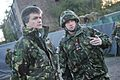 Michael Moore being briefed by Brigadier George Lowder during his visit to Exercise Scottish Buzzard.jpg
