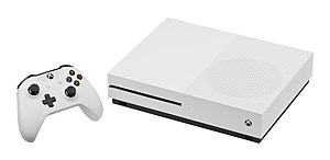 Eighth generation of video game consoles - Image: Microsoft Xbox One S Console w Controller L