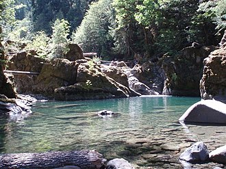 Middle Santiam Wilderness - A pool in the wilderness
