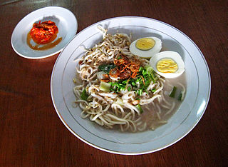 Mie celor Indonesian dish