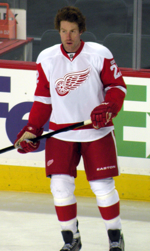 Mike Commodore - Commodore with the Detroit Red Wings in 2012