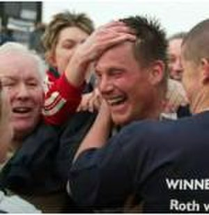 Rotherham R.U.F.C. - Mike Schmid embraced by fans after securing promotion