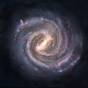 English: Artist's conception of the Milky Way ...