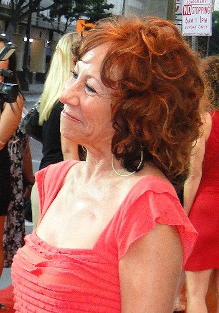 "Sterling on the red carpet at the premiere of ""Cats for Cats"" at the Orpheum Theatre in Los Angeles (2011) Mindy Sterling (red carpet).jpg"