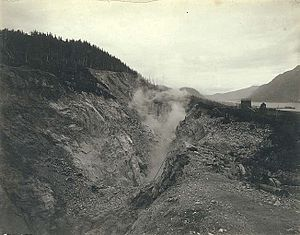Douglas Island - Mining operations at Treadwell Gold Mine on Douglas Island, circa 1900