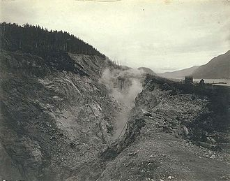 Douglas Island - Mining operations at Treadwell Gold Mine on Douglas Island, circa 1900