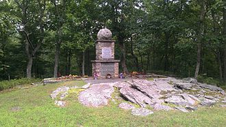 Battle of Minisink - Monument at site of the battle, now part of the Minisink Battleground County Park.