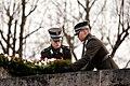 Ministru prezidents Valdis Dombrovskis piedalās svinīgajā vainagu nolikšanas ceremonijā Rīgas Brāļu kapos (8174995624).jpg
