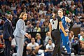 Minnesota Lynx head coach, Cheryl Reeve, along with Lindsay Whalen protest a referee call.jpg