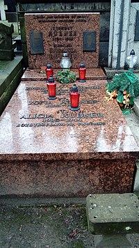 Mirosława Dobrawska Hubner grób.JPG