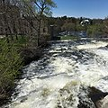 Mississippi River view near the Almonte Textile Museum, formerly the Rosamond Woolen Company (42019008082).jpg
