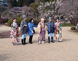 Mito Kōmon, Suke-san, Kaku-san and Ambassadors of Mito no Ume