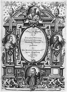 Thomas Muffet English naturalist and physician (1553-1604)