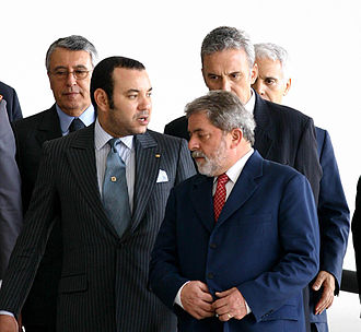 Mohammed VI of Morocco - Mohammed VI (left) with Brazilian President Luiz Inácio Lula da Silva in 2004.