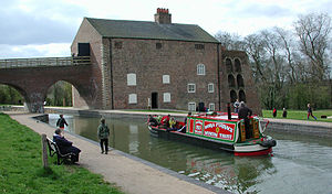 Ashby Canal - The restored section of the Ashby de la Zouch Canal alongside Moira Furnace, now a museum.