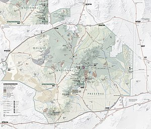 Kelso Wash - Map of the Mojave National Preserve and the Kelso Wash