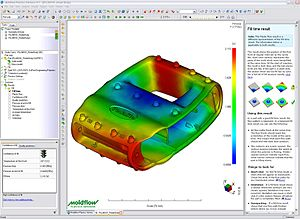 Moldflow - Moldflow Plastics Advisers software screenshot