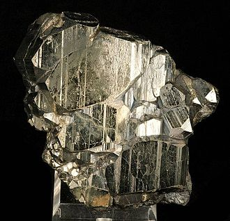 "Dolores County, Colorado - ""Bravoite"", Pyrite with a thin coating of Molybdenite, from the old Rico Argentine Mine."