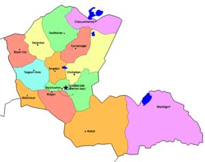 Dornod Province - Sums of Dornod