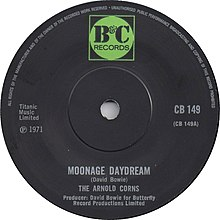 Moonage Daydream by The Arnold Corns UK vinyl 1971.jpg