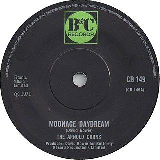 Moonage Daydream original song written and composed by David Bowie