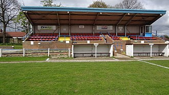 Chester-le-Street Town F.C. - Main Stand at Moor Park